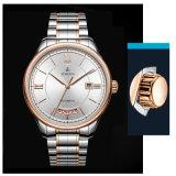 Mensen van de van de bedrijfs luxe Horloge van de Kalender van het Horloge het Dubbele met Band 72656 van het Roestvrij staal
