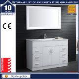 Шкаф тщеты ванной комнаты MDF Melmine черный с зеркалом
