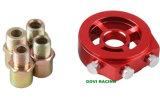 Radiador universal del adaptador del filtro de la temperatura de petróleo del aluminio del CNC