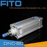 DNC ISO 15552 Festo 유형 표준 압축 공기를 넣은 또는 실린더