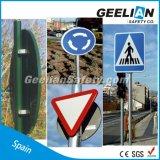Carretera de la buena calidad que advierte la muestra reflexiva de la carretera de la muestra de camino del tráfico