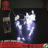 Mini luzes da corda do cobre do escudo da árvore de Natal do diodo emissor de luz com a caixa da potência de bateria
