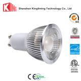 IL LED GU10 scalda la lampadina bianca del punto di CA 85-265V 3000k 5000k per l'ufficio