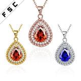 方法宝石類の古典的な形CZは女性のための吊り下げ式のネックレスにはめ込む