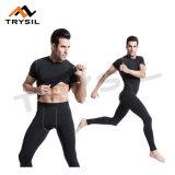 Parte superiore degli abiti sportivi di forma fisica di usura di ginnastica di uomini e vestiti stretti di compressione dei pantaloni