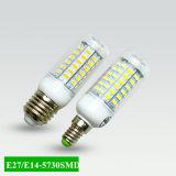 Luz de bulbo do milho do diodo emissor de luz de E27 E14 SMD 5730