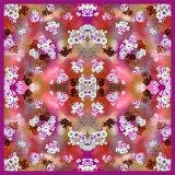 Custom высокое качество печати моды шелковые шарфы (F13-0030)