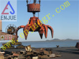 Gancho agarrador Eléctrico-Hidráulico de la arena de la cáscara anaranjada del Multi-Pétalo teledirigido hidráulico eléctrico del gancho agarrador