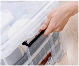 食糧のための最上質の透過20Lプラスチック収納箱の世帯の記憶のケースはおもちゃに着せる