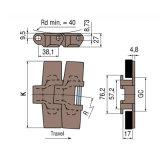 H882tab choisissent chaînes latérellement flexibles plates de charnière de premières
