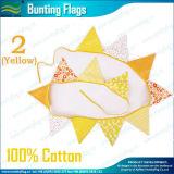 100% algodón triángulo coloridos Bunting Bandera (B-NF11F19022)