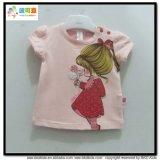 Il bambino organico del cotone copre l'indumento dei bambini di stampa dell'acqua per la maglietta del bambino