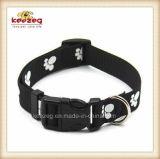 Kragen van het Huisdier van de Poten van de Druk van de kwaliteit de Nylon Materiële/de Lichtgevende Uitrusting van de Leibanden van de Halsband (KC0114)