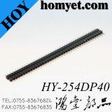 2.54mm 180 Cabeçalho de linha macho de uma linha 40p