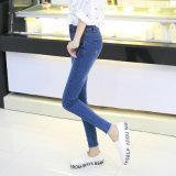 2017 de Blauwe Hoge Taille In het groot Jean Pants van dames