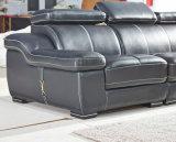 Sofá del cuero de la dimensión de una variable de U, sofá moderno, sofá negro del color (A302)