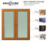 L'imagerie pont de bois d'isolement YX70 l'aluminium dans la fenêtre