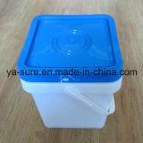 Secchio di plastica di vendita del quadrato caldo del commestibile per il gelato 5L