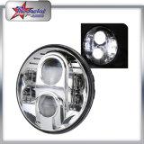 공장 가격 80W 지프를 위한 둥근 7inch 까만 은 LED 헤드라이트 12V 24V Offroad 트럭 LED 헤드라이트