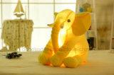 창조적인 밤 빛 LED 박제 동물 코끼리 놀 견면 벨벳은 아이 20 인치를 위한 선물을