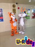 Peles de coelho Cartoon trajes para Festa