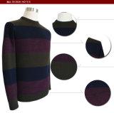 Herbst-lange Hülsen-runde Stutzen-Pullover-Strickjacke der grauen Männer Bm16050