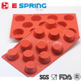 Le plus récent design 11 Cavities Muffin Cup Silicone Cake Mold Baking Mold