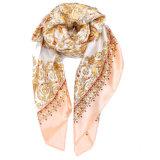 Première écharpe en soie de femmes estampée par mode faite sur commande en gros de créateur longue