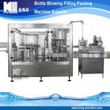 Compléter le matériel remplissant de mise en bouteilles de l'eau pure minérale