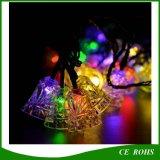 20 LED Christmas Jingle Bells Luzes de cordas solares Iluminação solar Decorações Iluminação a prova de fadas Luzes de energia Decoração para casa