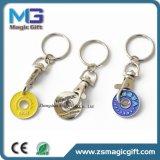 安い昇進の印刷のトロリー硬貨Keychain