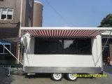 Трейлер каравана еды с тентом