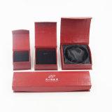 Cadre de bijou de empaquetage argenté de papier enduit de papier de fantaisie d'impression (J45-E)