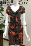 Платье удобных ежедневных женщин с All-Over печатание