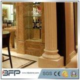 Colonnes de marbre grecques décoratives de qualité naturelle à chaud