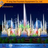 Озеро красочные танцы на открытом воздухе освещения фонтаном вычислений с плавающей запятой