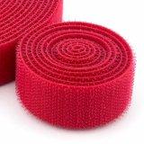 Autoadhésives écologique 100% Nylon Crochet et boucle de couleur rouge de bande