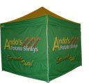Tenda piegante dell'Expo per la pubblicità di mostra