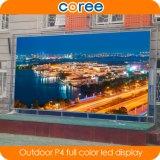 L'Extérieur Haute luminosité haute définition P4 plein écran à affichage LED de couleur