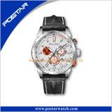 Relógio de pulso de cronógrafo Relógio de qualidade de couro de gema de homens com pulseira de padrão de crocodilo