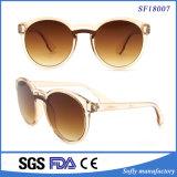 Spiegel-Objektiv-transparente Rahmen-Sonnenbrillen der Form-UV400