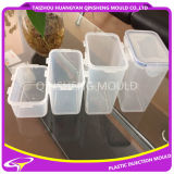 De plastic Vierkante Vorm van de Container van de Verbinding van de Microgolf Hoge Poolse Transparante