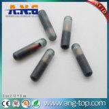 Tag animal de vidro bioquímico de Fdx-B 134.2kHz RFID do Tag da seringa