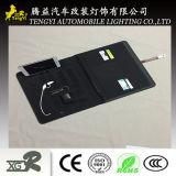 Carteira A5 com movimentação cinzenta do flash do USB de Brown do banco da potência