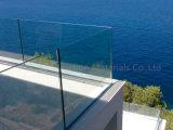 Disegno di vetro dell'inferriata del terrazzo dei sistemi della balaustra del pattino basso di alluminio