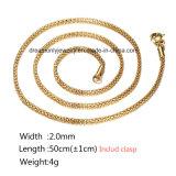 18k het goud plateerde de Hete Verkopende In het groot Halsband van de Ketting van de Vrouwen van Juwelen Lange
