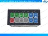 Gel befestigt Membranschalter-Tastaturblock mit LED