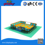 Trappolines rectangulaires commerciales à l'élastique avec piétinage à la mousse Trampoline Park