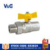 Надежное качество латуни расхода газа шарового клапана (VG-A61051)
