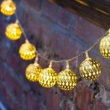 LEIDENE van de Op batterijen van Kerstmis van de meter Ideal Feestelijke Lichten van het Koord voor Huwelijk